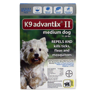 K9 Advantix II, Medium Dog, 11-22 lbs, 6 pk, Teal