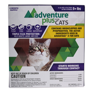 Adventure Plus For Cats 9 lbs and Over, 4 Month Supply