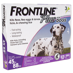 Frontline Plus Flea & Tick Dogs 45-88 lbs, 3 Mo