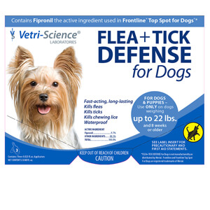 Vetri-Science Flea + Tick Defense for Dogs