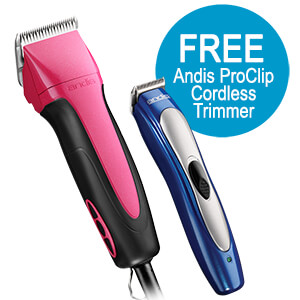 Andis Excel 5-Speed+ Fuschia w/ FREE Proclip Ion Trimmer