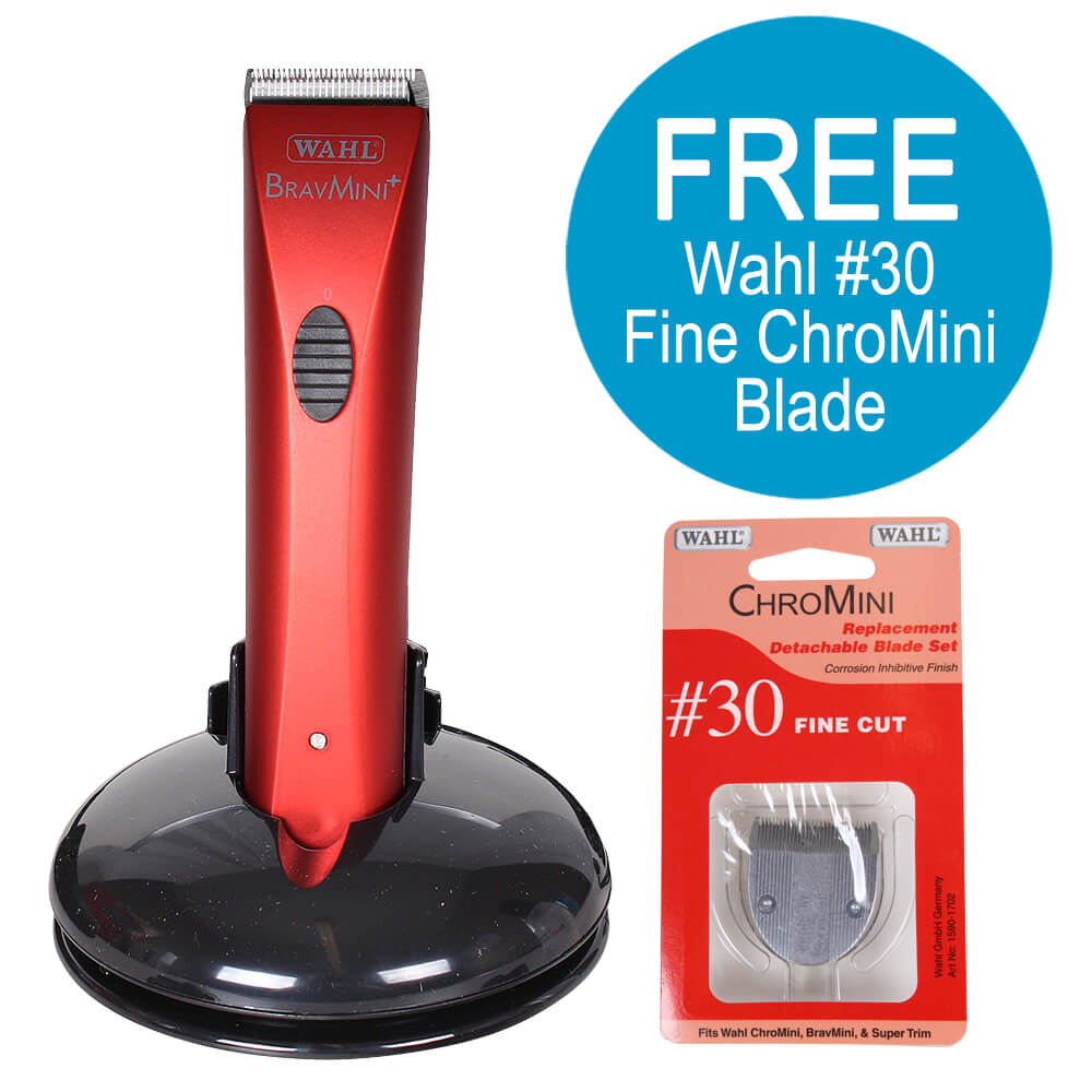 Wahl BravMini Red w/ BONUS #30 Fine ChroMini Replacement Blade