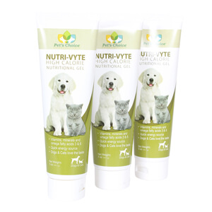 Nutri-Vyte High Calorie Nutrition Gel for Dogs & Cats, 5 oz, 3 pk