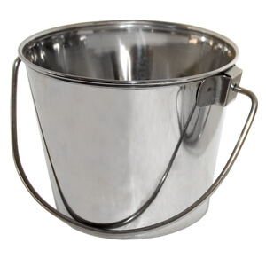Regular Stainless Steel Pail, 6 qt