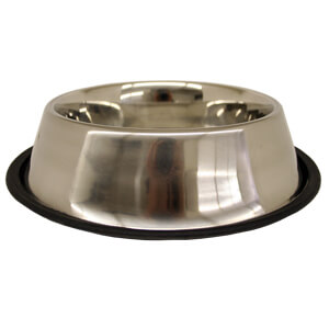 Non-Tip Stainless Steel Bowl, 64 oz