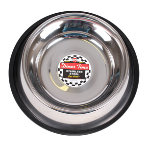Dinner Time Stainless Steel Pet Dish, 64 oz