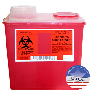 Sharps Biohazard Container, 2 gallon
