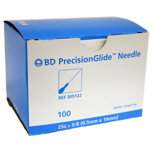 PrecisionGlide Needle, 25 x 5/8 BD, BOX