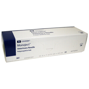 Monoject Needle, Polypropylene Hub, 22 g x 1