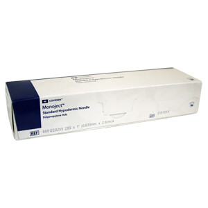 Monoject Needle, Polypropylene Hub, 23 g x 1