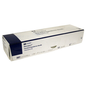 Monoject Needle, Polypropylene Hub, 25 g x 1