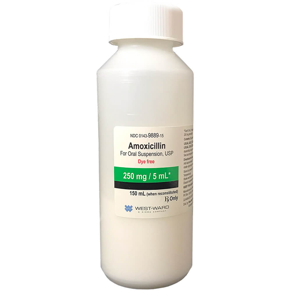 13. amoxicillin 250mg/5ml #150ml