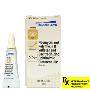 Rx Neo/Poly/Bac Ophthalmic Ointment, 3.5gm