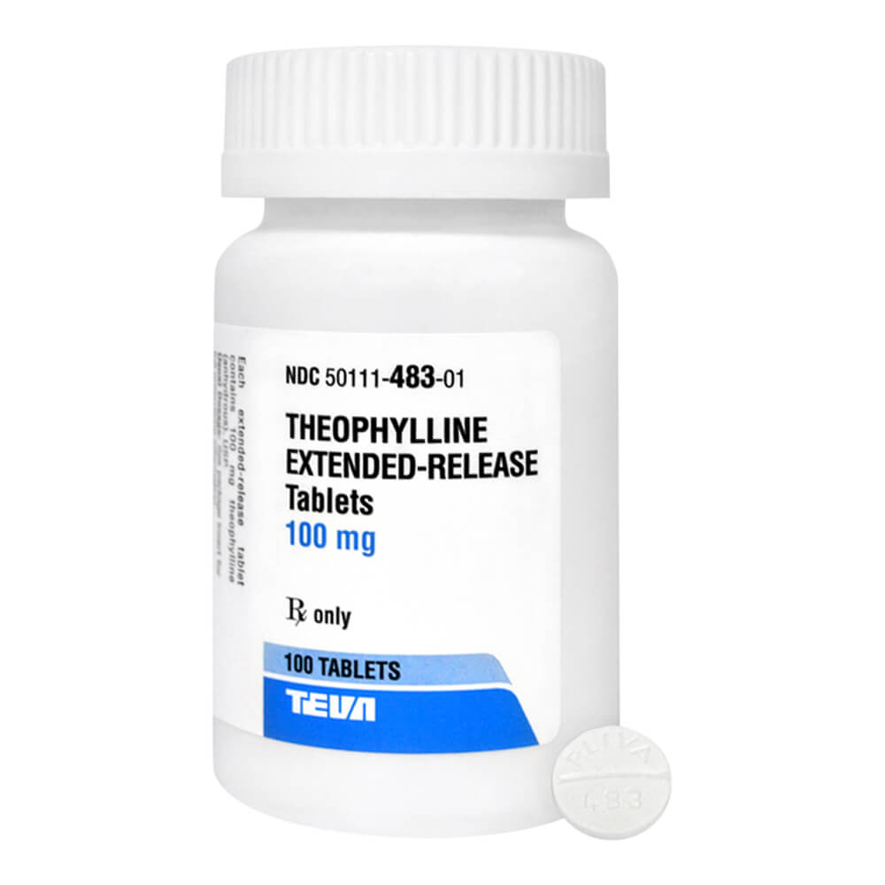 Theophylline Extended Release Rx, 100 mg x 100 ct