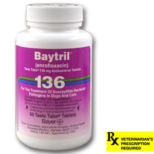 Baytril Rx, Taste Tabs, 136 mg x 50 ct