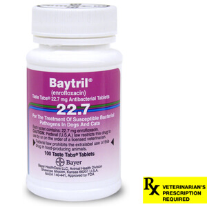 Baytril Rx, Taste Tabs, 22.7 mg x 100 ct