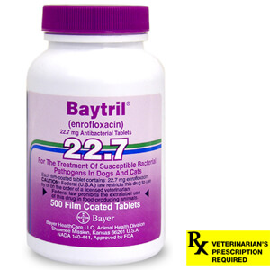 Baytril Rx, Tablets, 22.7 mg x 500 ct