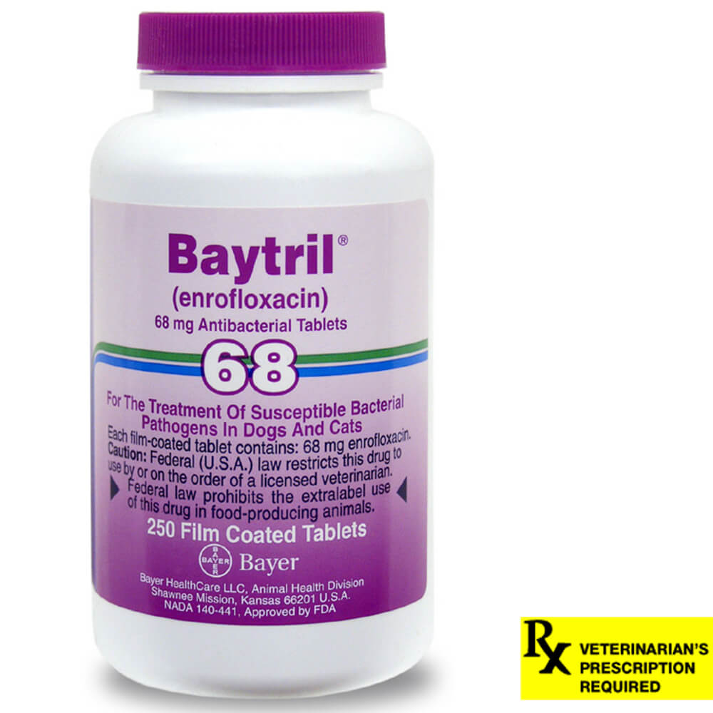 Baytril Rx, Tablets, 68 mg x 250 ct