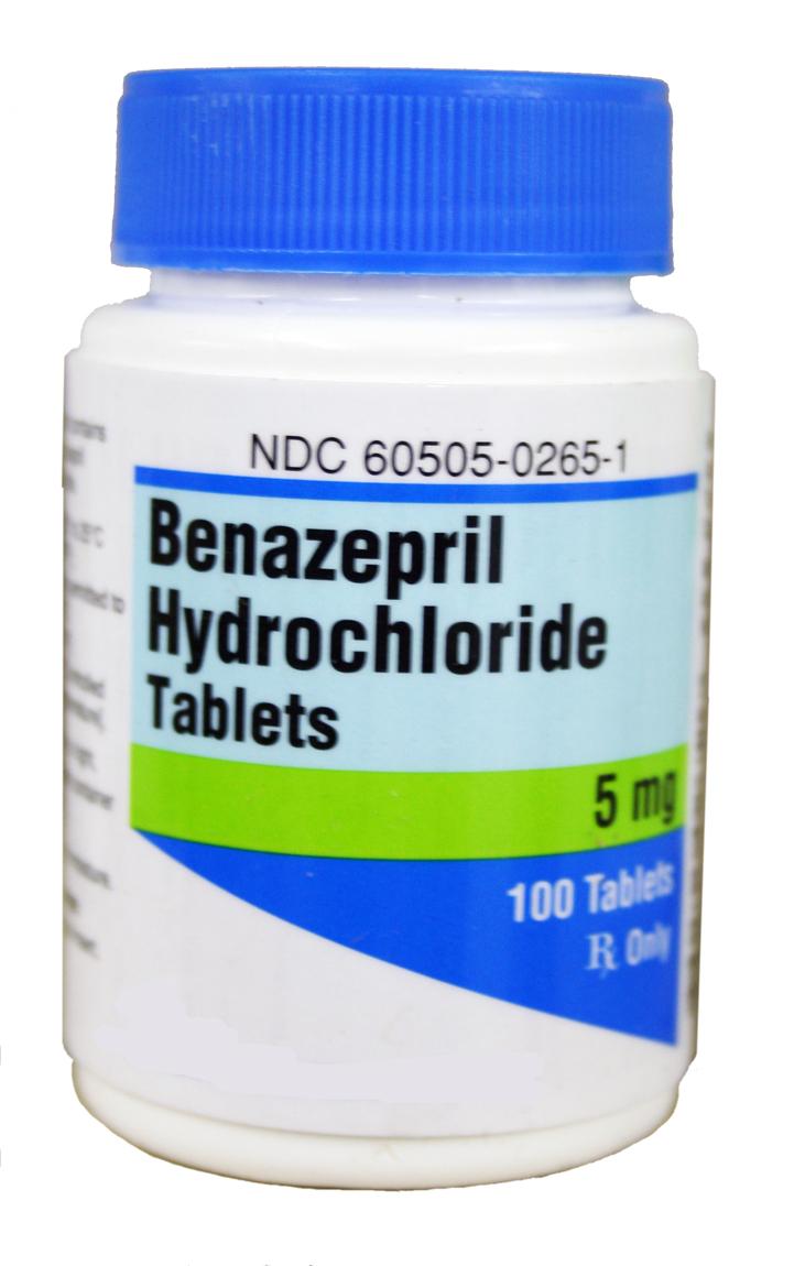rx benazepril 5mg x 100 tablets