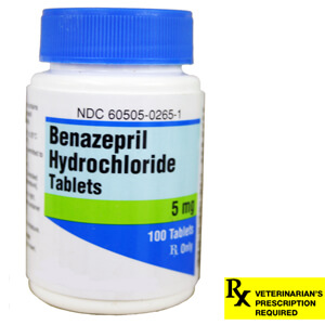 Rx Benazepril 5mg x 100 Tablets