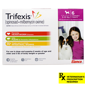Trifexis® Rx, 5-10 lbs, 6 month (Pink)