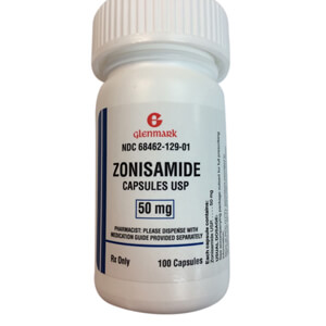 Rx Zonisamide, 50 mg, Single Capsule