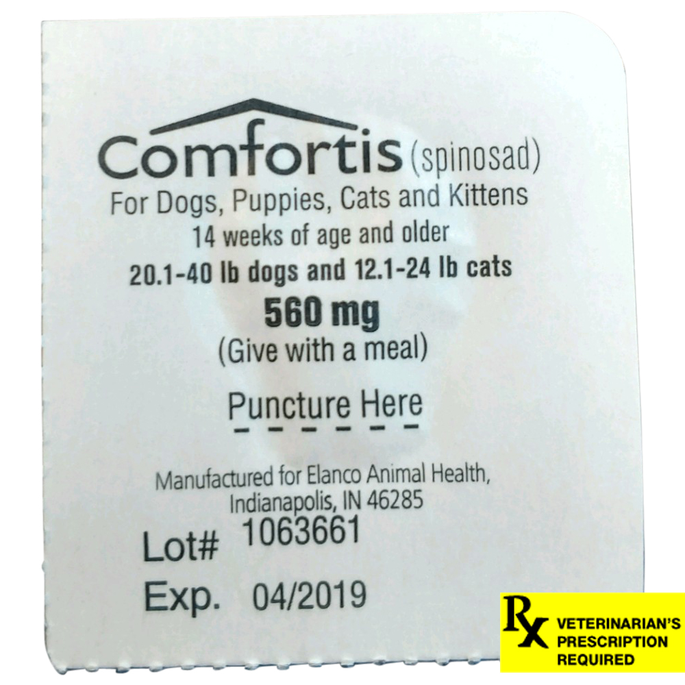 Rx Comfortis  20.1-40 lb Dogs/12.1-24 lb Cats Single Tab
