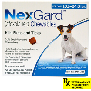 NexGard for Dogs Rx, 10-24.0 lbs, 3 month