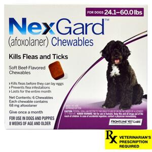 NexGard Rx for Dogs, 24.1-60 lbs, 6 month