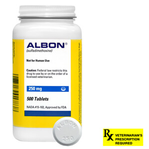 Albon Rx, 250 mg x 500 ct