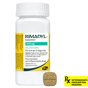 Rimadyl Rx, Chewables, 100 mg x 30 ct