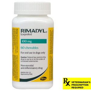 Rimadyl Rx, Chewables, 100 mg x 60 ct
