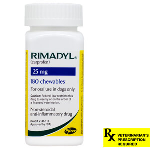 Rimadyl Rx, Chewables, 25 mg x 180 ct