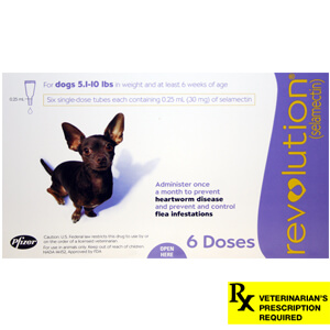 Revolution Rx for Dogs, 5.1-10 lbs, 6 Month (Purple)