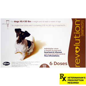Revolution Rx for Dogs, 10.1-20 lbs, 6 Month (Brown)