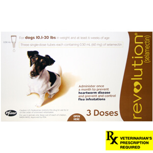 Revolution Rx for Dogs, 10.1-20 lbs, 3 Month (Brown)