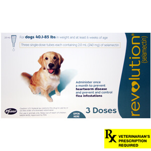 Revolution Rx for Dogs, 40.1-85 lbs, 3 Month (Teal)