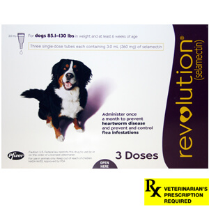 Revolution Rx for Dogs, 85.1-130 lbs, 3 Month (Plum)