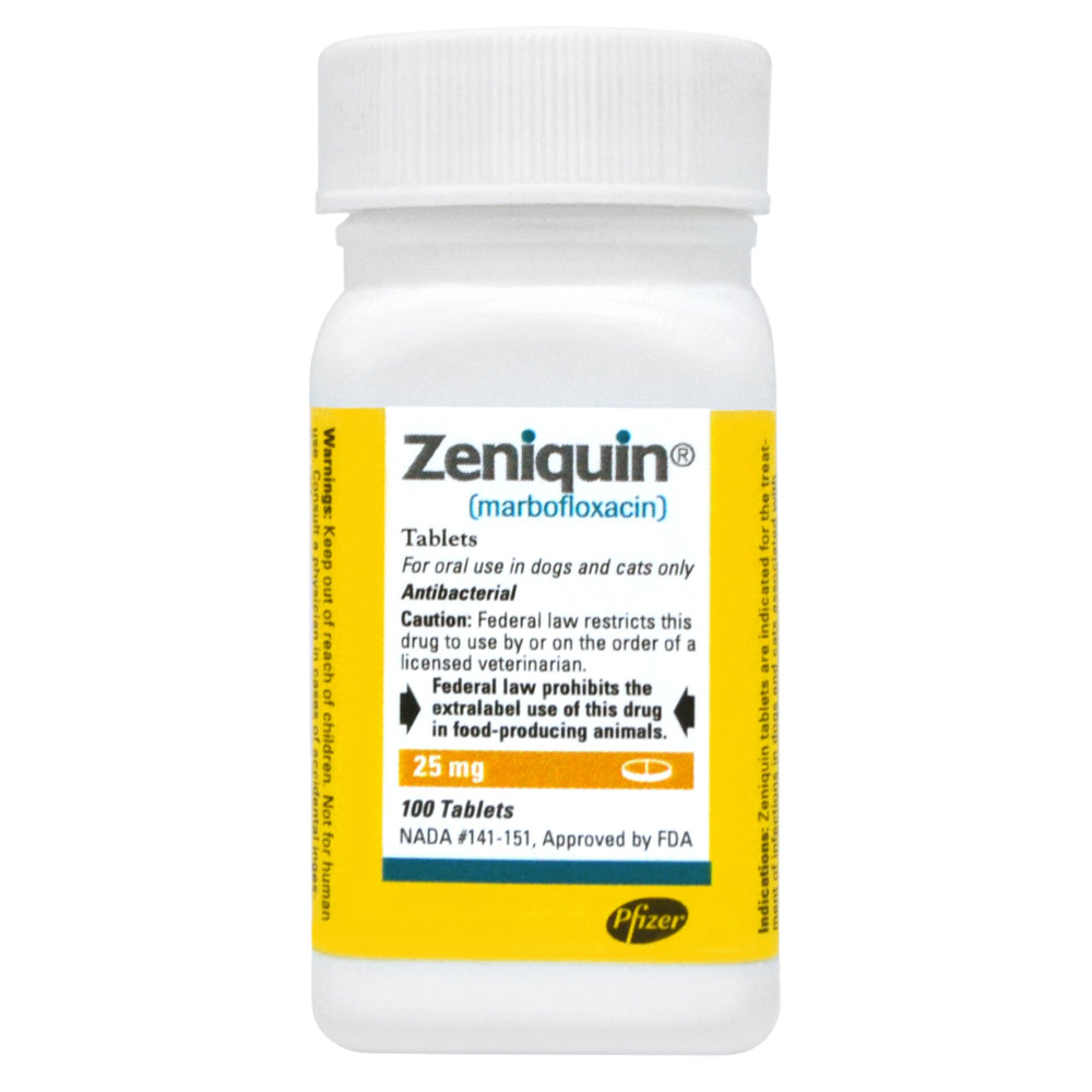 Zeniquin Rx, 25 mg x 100 tablets