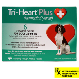 Rx Tri-Heart Plus, Green, 26-50 lbs