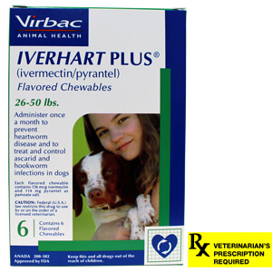 Iverhart Plus Rx, 26-50 lbs, 6 Month