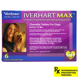 Iverhart Max Rx, 6-12 lb, 6 Month Supply