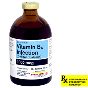 Rx Vitamin B-12 Injectable, 1000mcg/ml, 100ml bottle