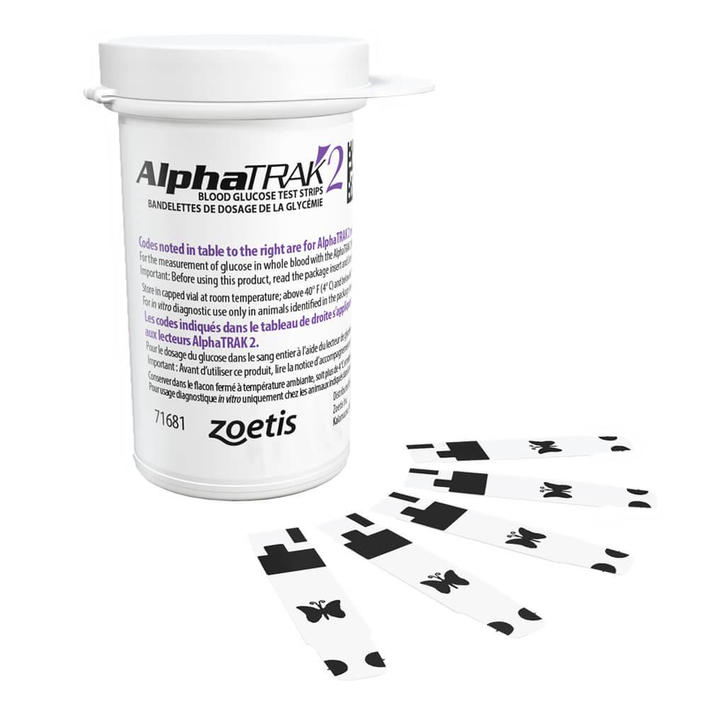 AlphaTRAK II, Blood Glucose Test Strips, 50/box