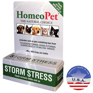 HomeoPet Storm Stress ALL PETS over 80 lbs, 5 mL
