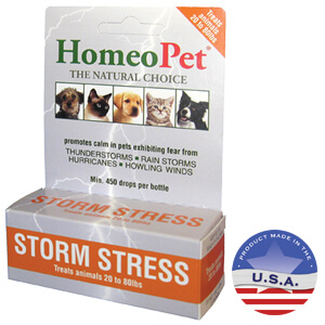 HomeoPet Storm Stress ALL PETS 20-80 lbs, 5 mL