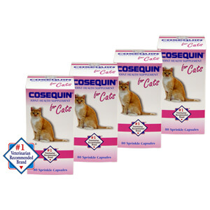 Cosequin for Cats, 80 Sprinkle Capsules, 4 Pack