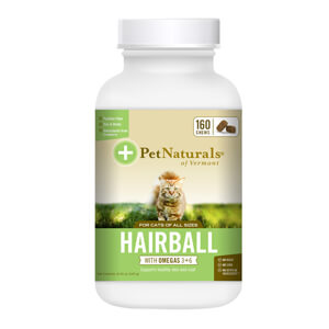 Pet Naturals Hairball with Omegas 3+6 for Cats, 160 Chews