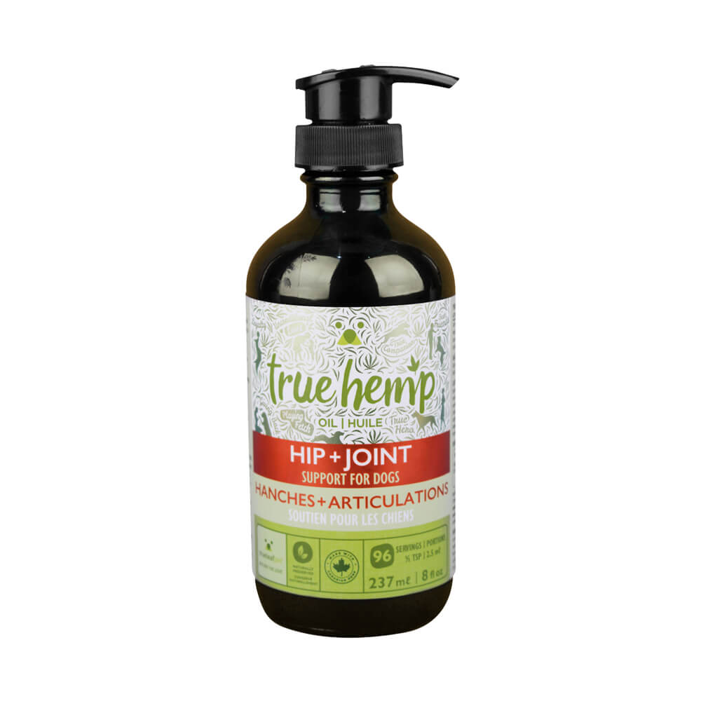True Hemp Oil, Hip + Joint Support For Dogs, 8 Fl Oz