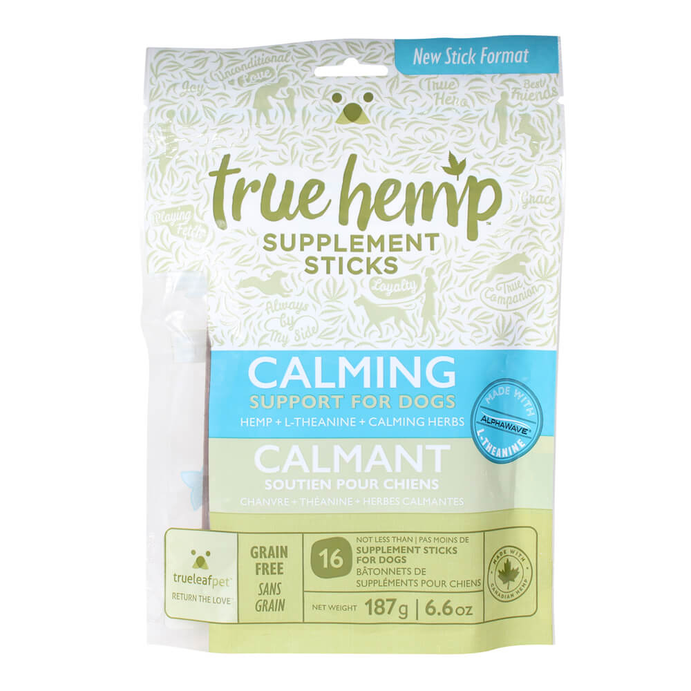 True Hemp Supplement Sticks, Calming Support for Dogs, 6.6 oz